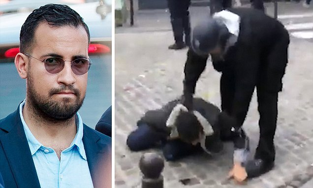 Macron security aide who attacked protesters on May Day is CHARGED