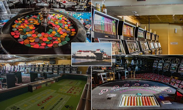 Roulette tables and slots gather dust on board deserted casino ship