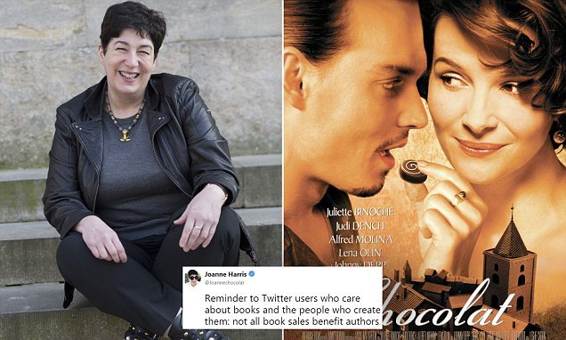 Joanne Harris says buying second hand books is NOT supporting authors
