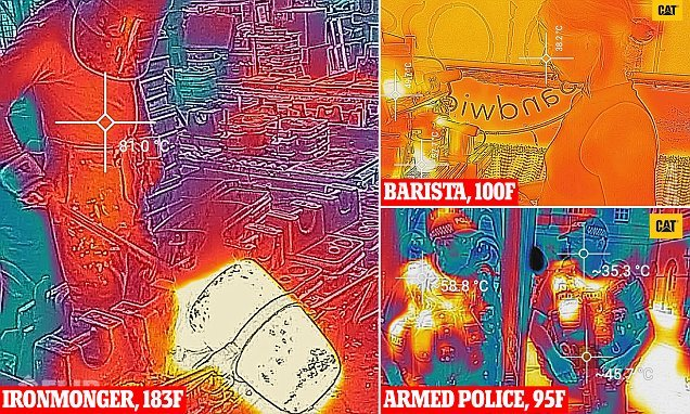 Thermal images reveal who endures the most stifling working conditions