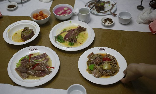 Man bites dog: North Koreans eat dog meat to beat the heat