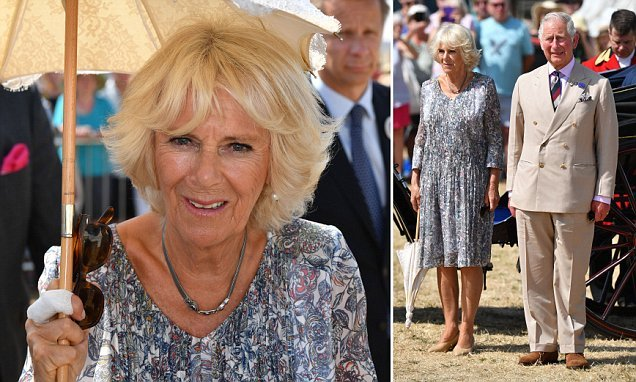 Charles and Camilla are reunited at Sandringham