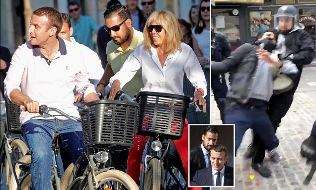 Why IS President Macron publicly denying his bodyguard is his lover?