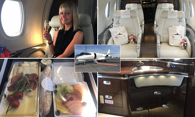 Climbing on board a private jet in Luton for LUNCH on the Cote D'Azur