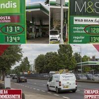 BP garages on the same road charge different prices for petrol
