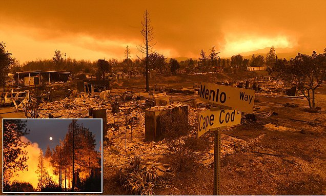 Eerie images show devastation left by wildfires raging in California