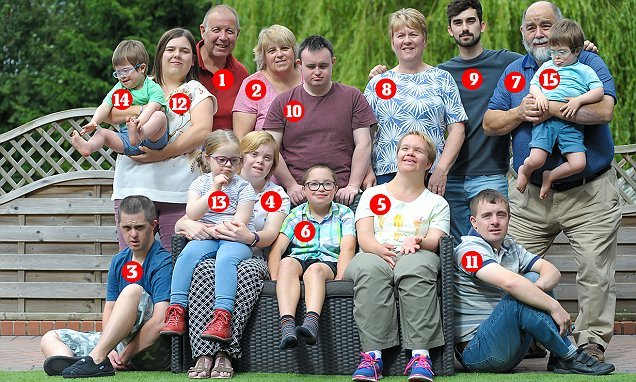 Meet the family who've adopted NINE children with Down's syndrome