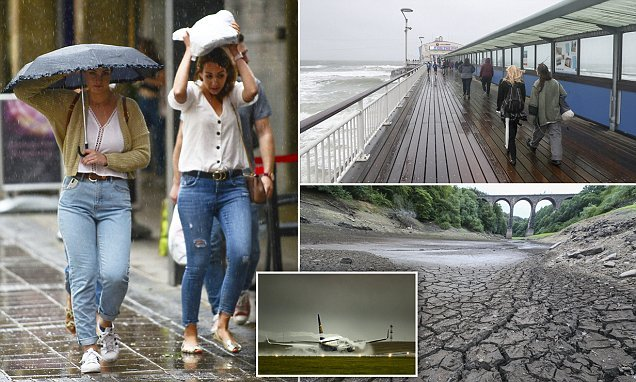 Wrong type of rain! Water companies say the downpours were TOO HEAVY