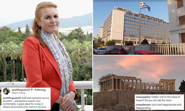 Fergie faces a backlash for gushing over Athens hotel