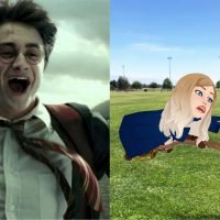Snapchat Just Launched A 'Harry Potter' Bitmoji Lens That Reps All 4 Houses