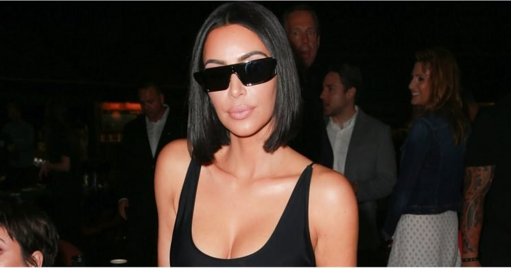 Kim Kardashian's Skintight Patent Pants Are Expected, but Her Shoes Still Seem Impossible