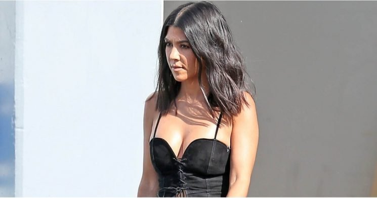 "Kourtney Kardashian Looks So Good in This Lace-Up Top, Even She Had to Promise Us She's ""Real"""