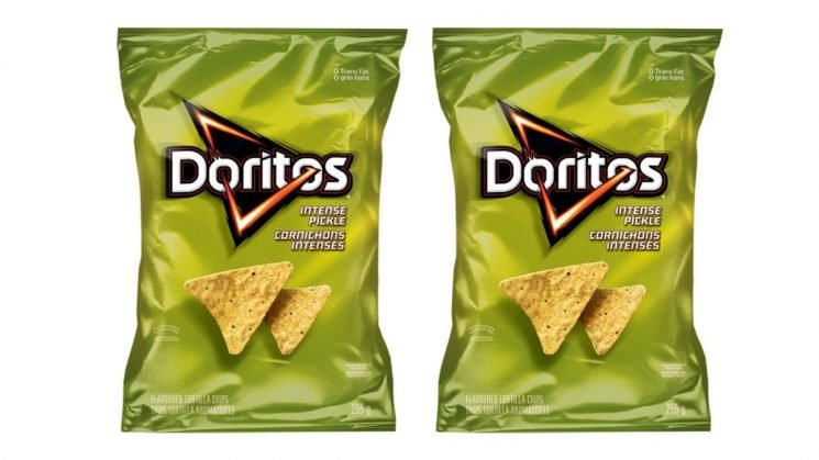 """Pickle-Flavored Doritos Exist, And Apparently The Flavor Is """"Intense"""""""