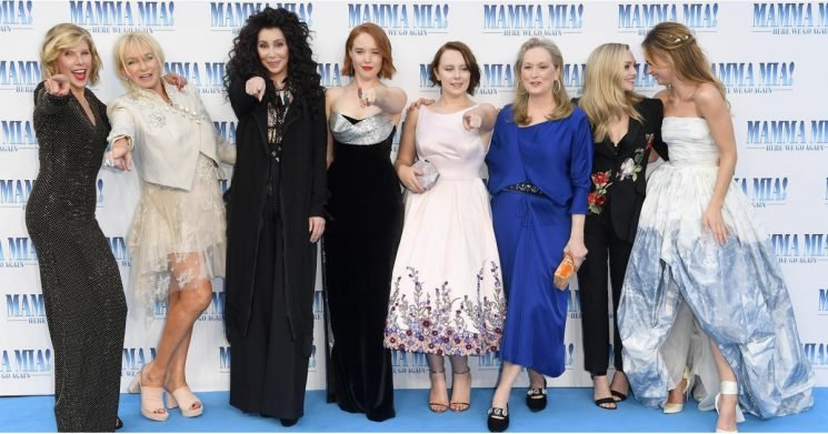 The Cast of Mamma Mia! Here We Go Again Looks Like 1 Big, Happy Family at the Premiere