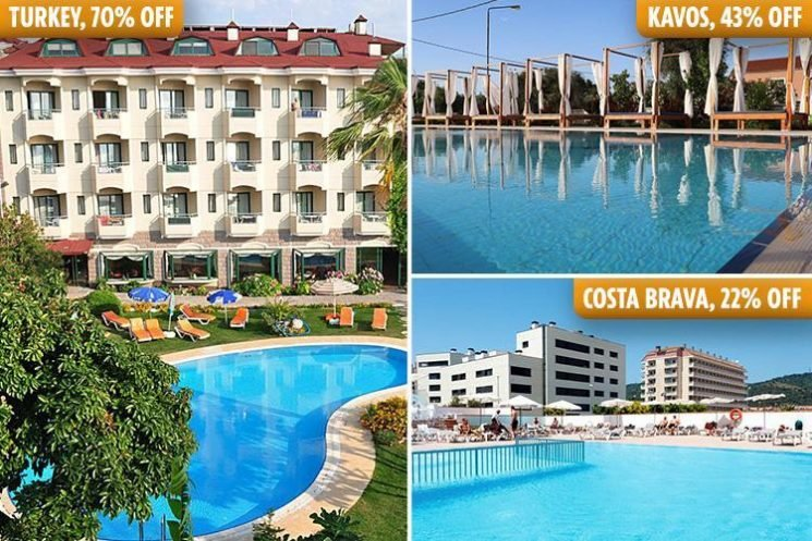 Holiday firms slash prices by up to 70 per cent to encourage bookings in the midst of the heatwave