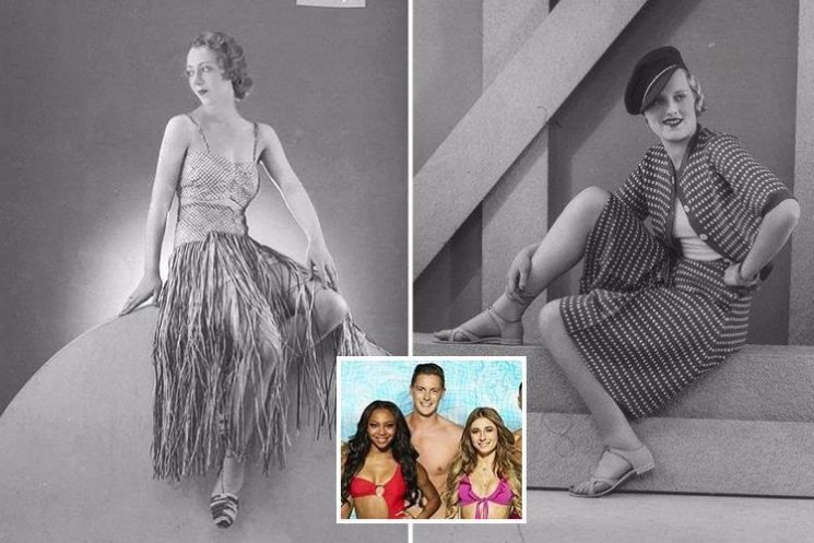 Candid monochrome photos reveal bizarre swimsuit trends of the 1930s… and they're a far cry from Love Island