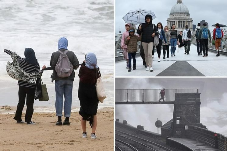 UK weather – damp Britain faces more rain this week but 31C heatwave will return by Friday