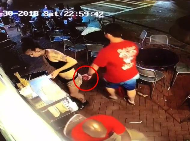 Man bodyslammed by waitress after 'grabbing her bum' is revealed as 31-year-old dad of twin girls