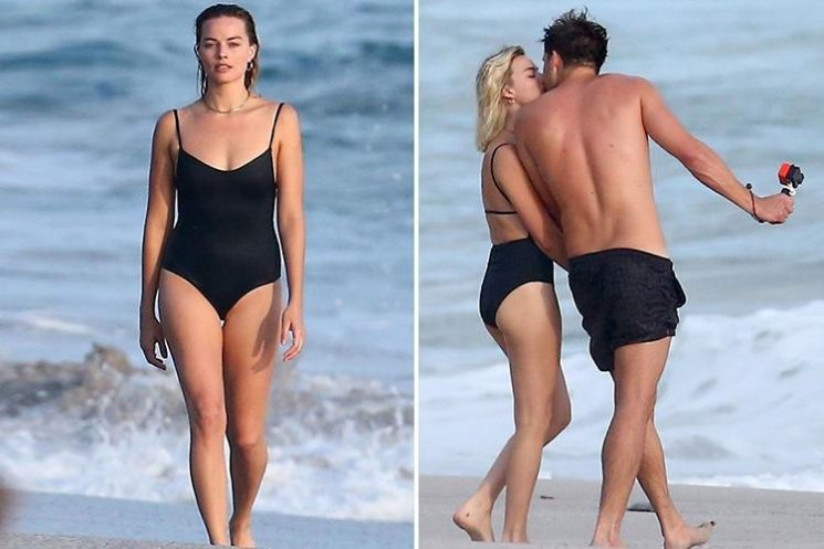 Margot Robbie stuns in a black swimsuit as she passionately kisses husband Tom Ackerley on holiday in Costa Rica