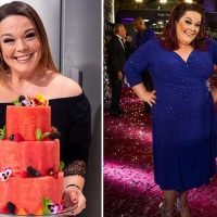 Lisa Riley eats a watermelon cake for her 42nd birthday after losing 12 stone