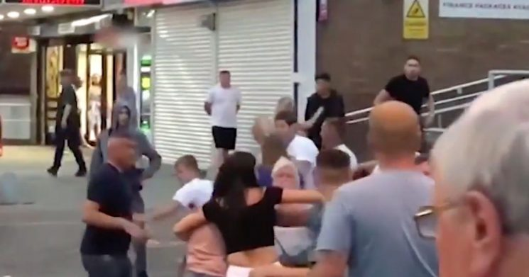 Pub-goers throw punches as mass brawl breaks out after semi-final defeat