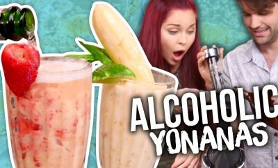 Yonanas Boozy Frozen Yogurt Recipe, DIY Froyo Bananas Video