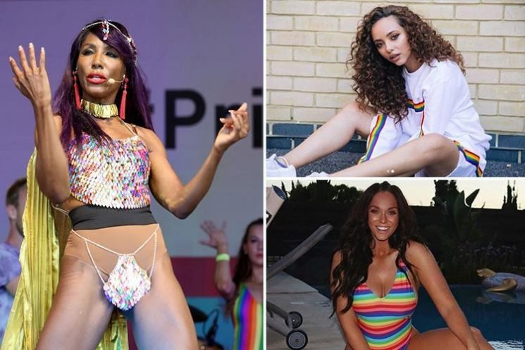 Sinitta, Vicky Pattison and Little Mix's Jade Thirlwall lead Pride celebrations in London as Nick Grimshaw announces 'it's coming homo'