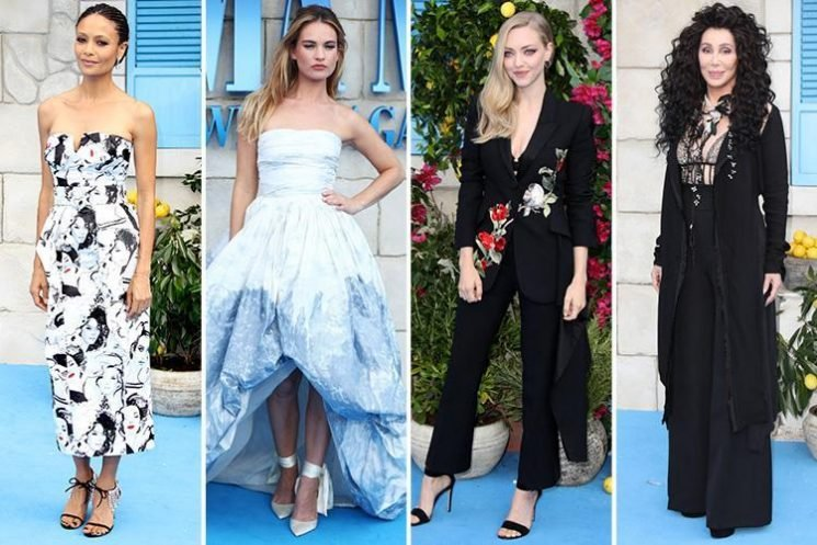 Cher, Amanda Seyfried and Lily James lead the glam in stunning dresses at the Mamma Mia 2 world premiere in London