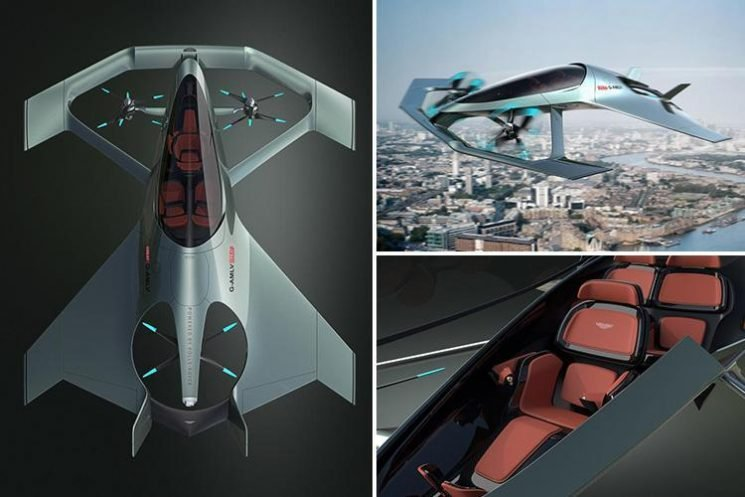 Aston Martin's new James Bond style three-seater Volante Vision aircraft is half plane, half drone – and costs up to £5million