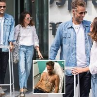 Richard Bacon leaves hospital with wife Rebecca after coming out of coma