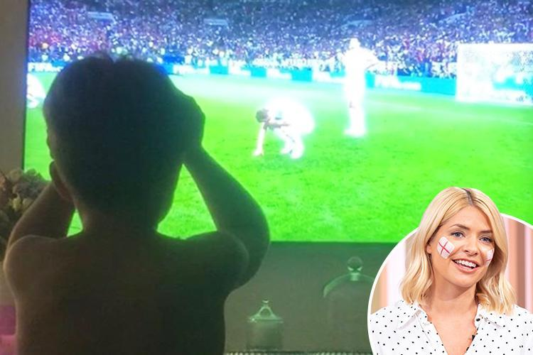 Holly Willoughby shares heartbreaking picture of devastated son Harry, nine, mourning England's World Cup defeat