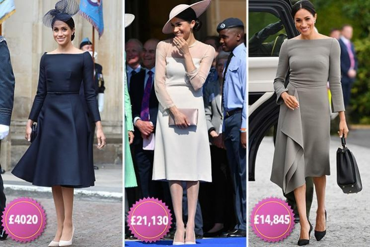 Meghan Markle has splashed £160,000 on just 16 outfits since marrying Prince Harry less than two months ago