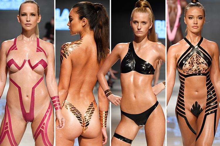 Stick On Swimwear Is Summer S Hottest New Trend As Models