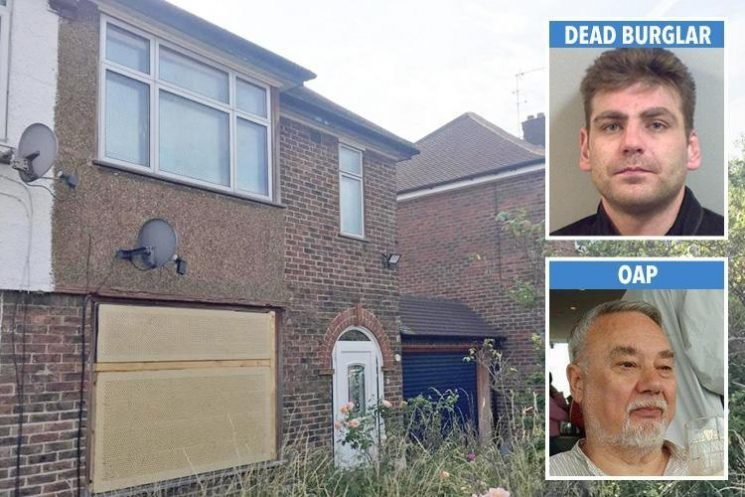 OAP who knifed burglar to death still forced from his home three months on as pictures show overgrown garden and boarded-up windows