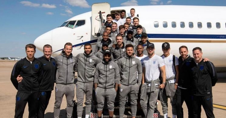 England land back at Birmingham airport after second best ever World Cup finish