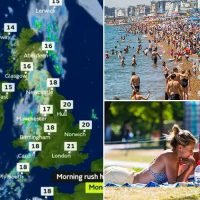 Britain's longest heatwave in 42 years set to end with plunging temperatures and rain ahead