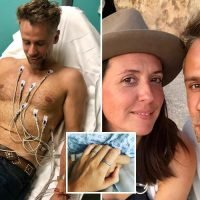 Richard Bacon reveals he's leaving hospital after coma following life-threatening double chest infection as he thanks wife Rebecca for being his rock