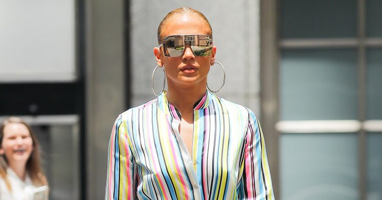 Jennifer Lopez Rainbow Striped Top & Similar Styles