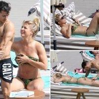 Gemma Atkinson rubs sun cream on her Strictly star boyfriend Gorka Marquez as they enjoy another holiday in Ibiza