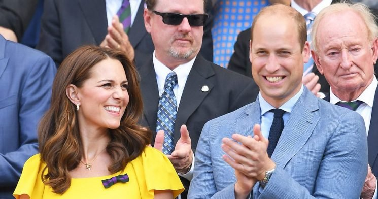 Duchess Kate, Prince William Laugh on Day Date at Wimbledon: Pics