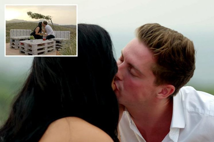 Love Island's Dr Alex and Alexandra enjoy kiss on romantic date as he apologises for getting cold feet about their relationship
