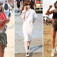 Georgia May Foote, Nicola Roberts and Maya Jama show off their festival style as they party at Lovebox
