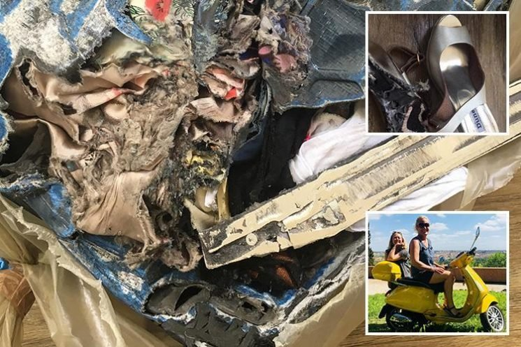 EasyJet lose Brit's luggage for 2 weeks then return the case BURNED and shredded