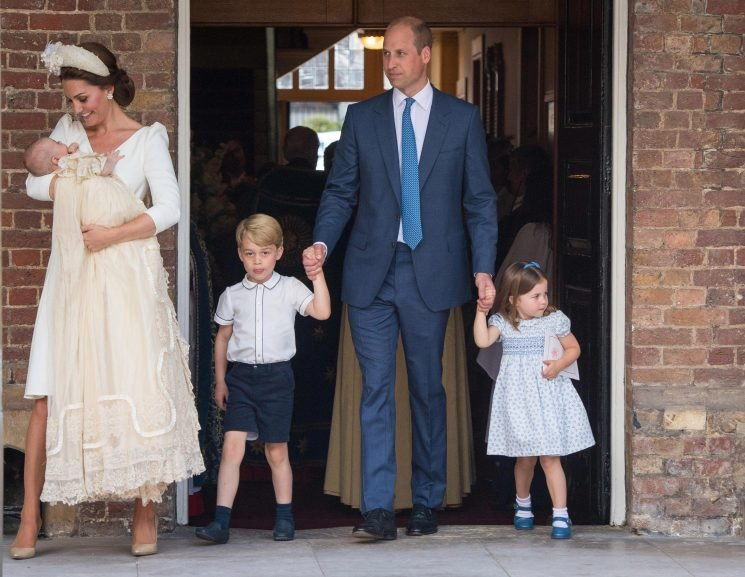 Princess Charlotte tells photographers they aren't invited to Prince Louis' christening