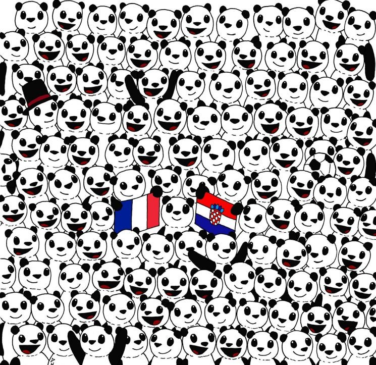 Can you spot the football hidden among the pandas? Tricky optical illusion is taking the internet by storm