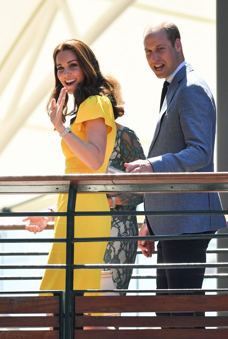 Kate Middleton glows in glorious yellow as she and Prince William arrive at Wimbledon to watch Djokovic vs Anderson in men's singles final