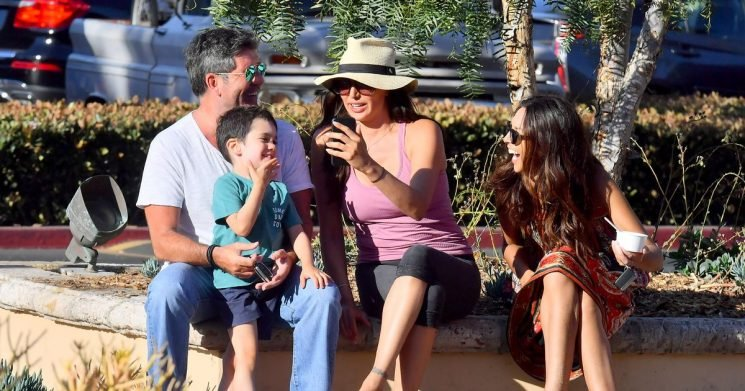 Simon Cowell takes shock stroll with current and ex girlfriends Lauren and Terri