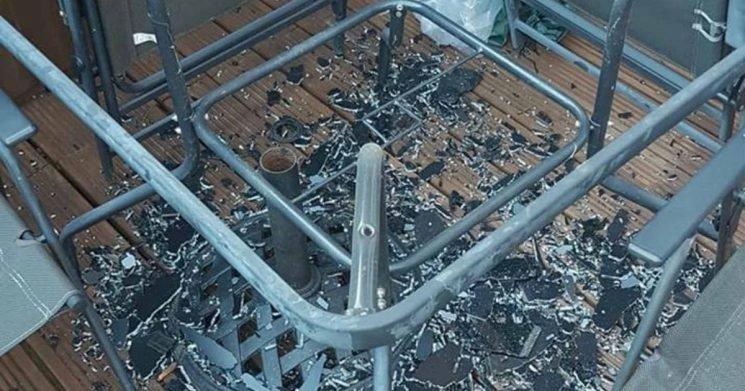 Mum shocked after Asda glass table 'explodes' at random during heatwave