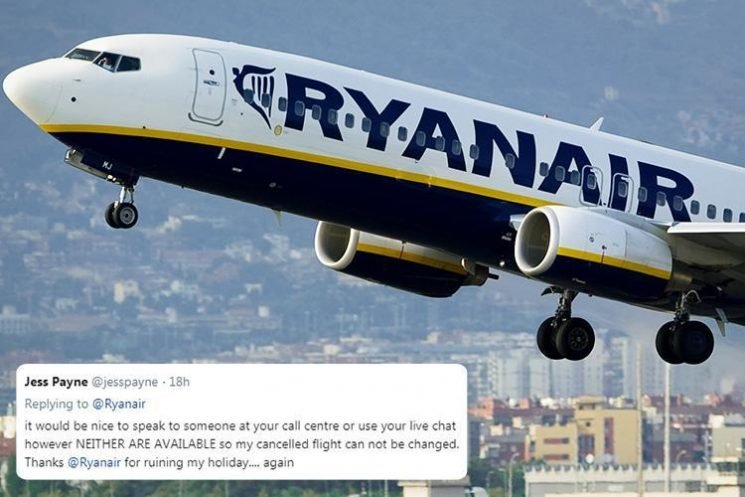 Fury as Ryanair passengers on the 600 cancelled flights struggle to re-book tickets