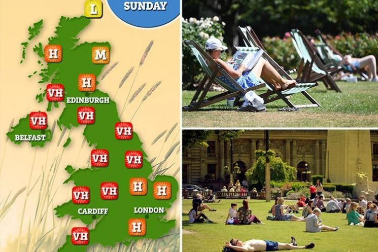 Millions of hay fever sufferers at risk of deadly asthma attacks this weekend as 'pollen bomb' hits UK